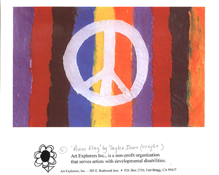 Taylor's Peace Flag card