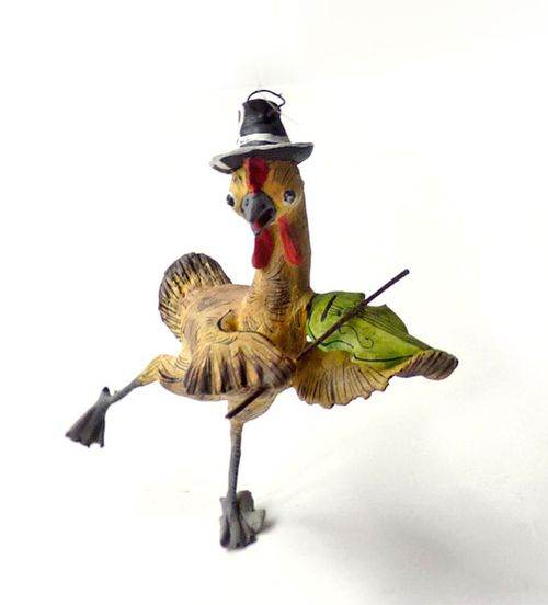 Turkey with fiddle